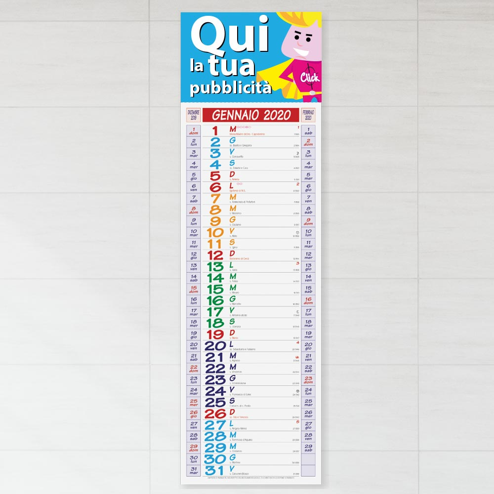 Calendario MULTICOLOR SILHOUETTE (Art. 670)